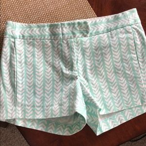 Teal Patterned Chino Shorts!